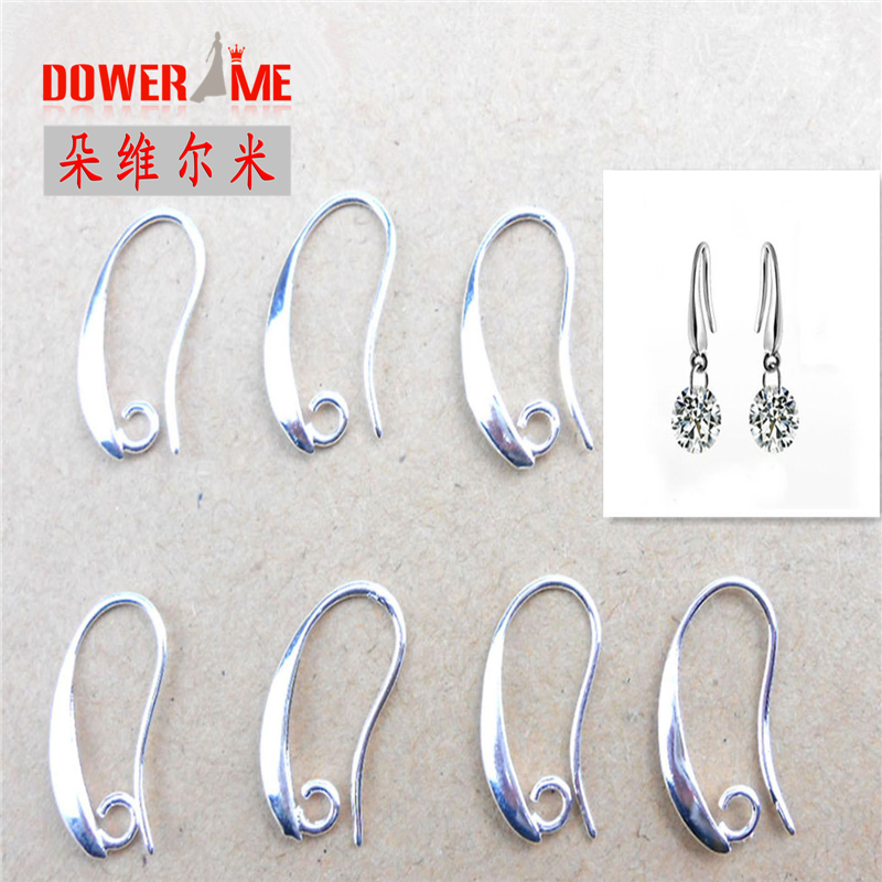 Bulk 20pcs Fine Preal Jewelry Design Earring Findings 925 Sterling Silver Ear Hook For Cubic Zirconia Crystal Beads Earrwire In