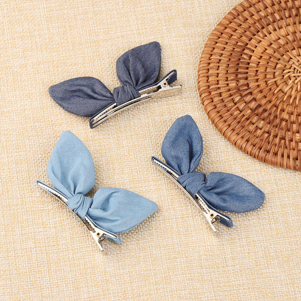 women New arrival college style  lovely cute Rabbit ears Hair Pin baby girl's BB Clip Hairpins Hair Side Clips for Grils