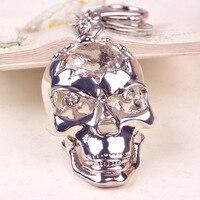 Wholesale 5 Pcs Cool Punk Rock Creative Alloy Skull Skeleton Key Chain Bag Charms Car Pendants Keychains Ring Buckle Men Women