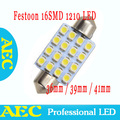 100x Big sales Wholesale Car led festoon light c5w 16 SMD led 16smd 3528 41MM Auto led bulbs Free shipping
