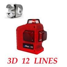 Profesjonalne 12 Linia 3D laser level 360 Pionowe I Poziome samopoziomujący Laser Level Krzyż Linia 3D Laser Level