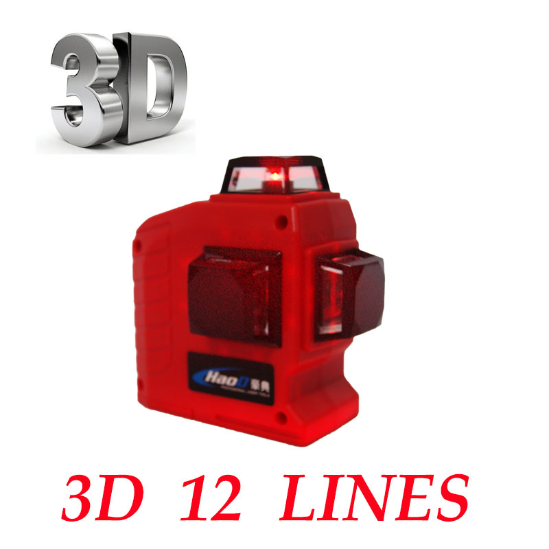 Professional 12 Line 3D laser level 360 Vertical And Horizontal Laser Level Self-leveling Cross Line 3D Laser Level