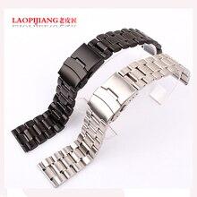 Laopijiang Sólida correa de acero inoxidable relojes relojes de moda de accesorios 18/20 | 22mm negro