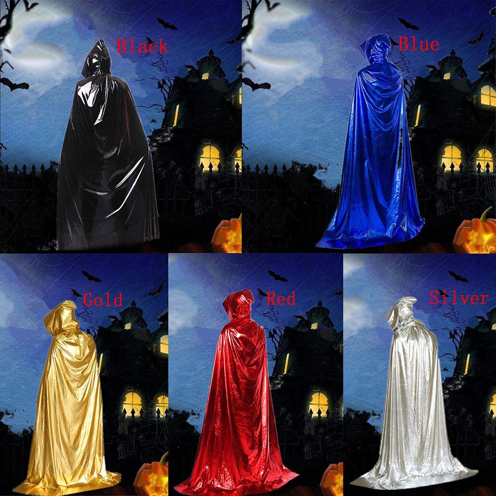 Halloween  Fashion Costume Theater Prop Death Hoody Cloak Devil Long Tippet Cape Cosplay