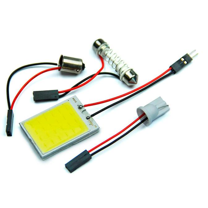 kongyide Healight Bulbs 10pieces 24 SMD COB LED Car T10+Festoon Light Panel Lamp 12V - White NOV10