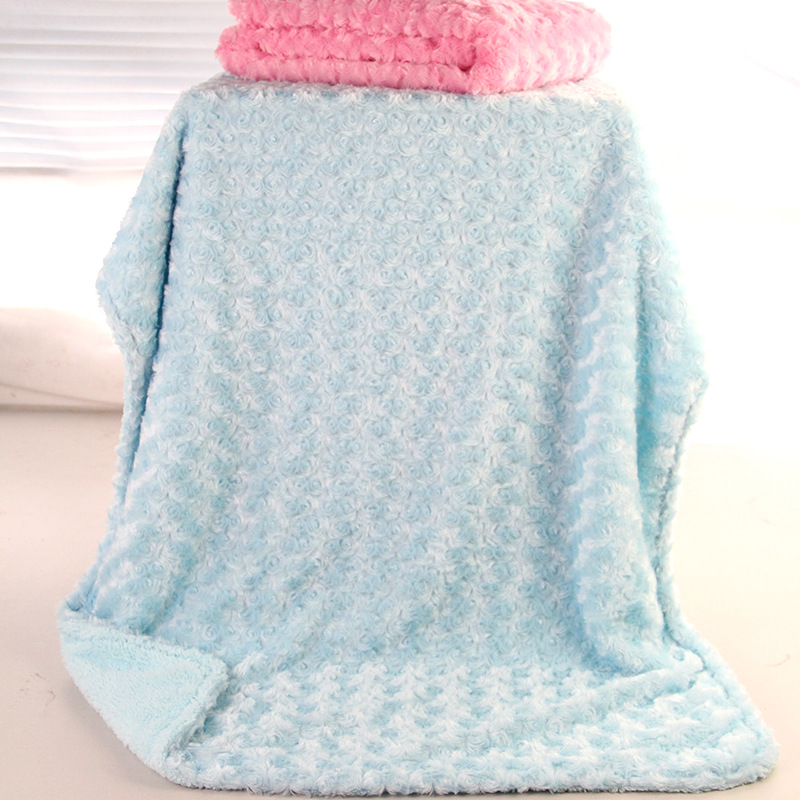 2018 New spring and summer 2018 Children Rose cashmere Double-layer Baby blanket Lamb wool blanket 102x76cm cotton lamb fleece blanket 115 115cm 100% cashmere double face blankets nordic style