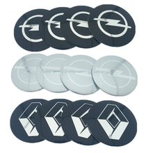 4pcs/lot 56.5mm 65mm Car Rim Decal Wheel Center Hub Cap Sticker logo For Cadillac Volvo Land Rover Chevrolet Mitsubishi Opel