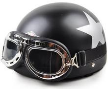 Motorcycle Helmet with goggles Leisure style scooter helmet