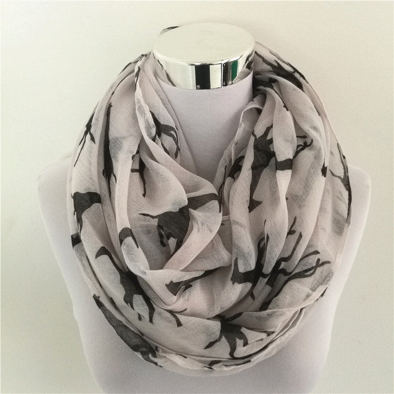 10pcs/lot New Women Print   Scarf   Animal infinity   scarf     Wraps   Giraffa camelopardal loop   Scarves   Hot Sale ring   scarf   for women