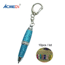 Free shipping 10pcs Hot sale Mini Glitter Crystal Ballpoint Pen