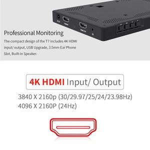 Image 5 - Feelworld T7 7 Cal na polu kamery Monitor DSLR 4K HDMI Ultra Full HD 1920x1200 wyświetlacz LCD IPS przenośna aluminiowa obudowa