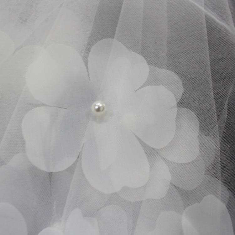 ZUOYITING bruiloft bruids twee lagen sluier met kam ivoor / witte - Bruiloft accessoires - Foto 3