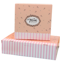 10pcs/lot Lovely Pastoral Style Thanks Flowers Packaging Baking Food Emballage Wedding Favors and Candy Box