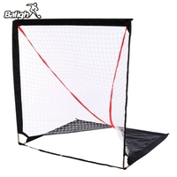 Balight Portable Ice Hockey Chipping Net Ice Hockey Training Chipping Net Hitting Aid Practice Net Cage Indoor Outdoor Bag
