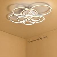 NEO Gleam Double Glow Circel Rings Living Room Bedroom Led Chandelier High Brightness Aluminum Modern Led