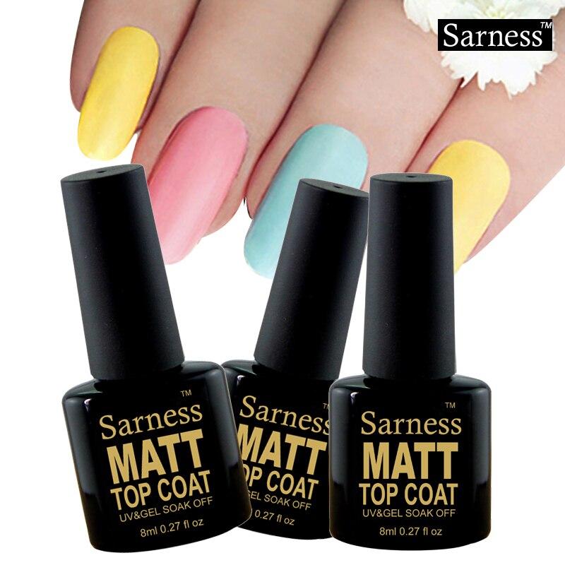 Sarness Matt Top Nails Art Matt Cheap Gel Varnish Matte Top Coat Gel ...
