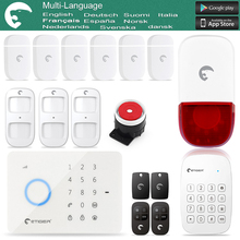 Etiger S3B gsm home alarm security system For Anti-theft Touched Screen With RFID Keypad Disarm/Arm Panel New Design Super Kit
