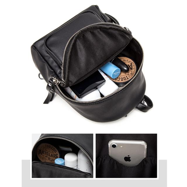 BISON DENIM Cow Leather Backpack Women Quality Leather Backpacks for Teenagers Female School Shoulder Bag Bagpack mochila N1552
