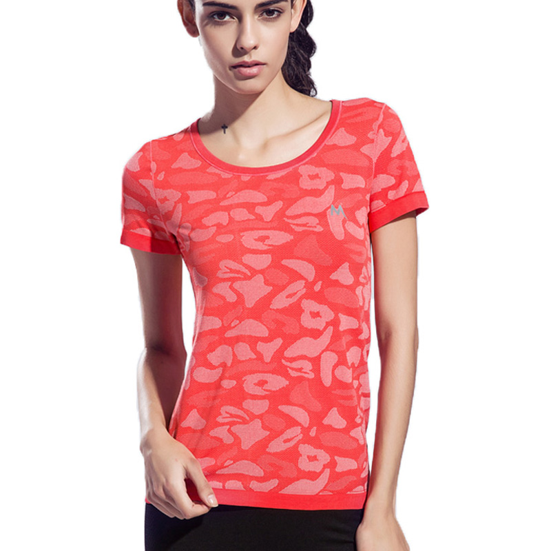 BESGO Camouflage Color Women Sports Yoga Shirt Breathable Gym Running Exercises Fitness T-shirt Quick Dry Tops Short Sleeve Tee