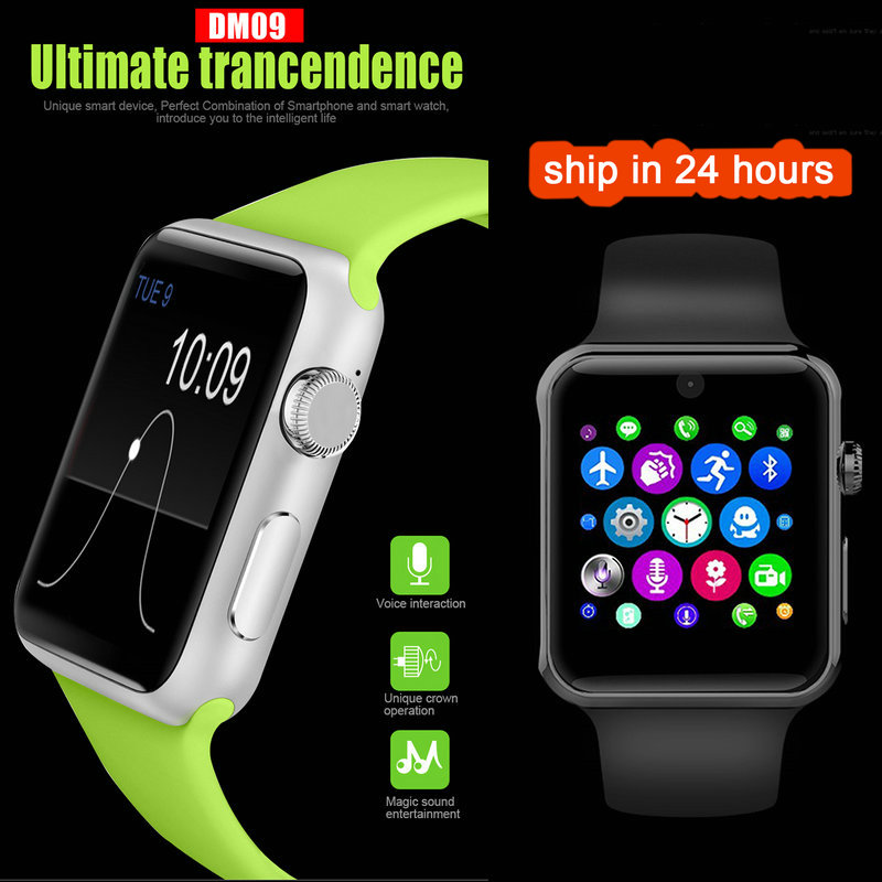 DM09 Bluetooth Smart Watch Sports HD Screen Support SIM Card Wearable Device Smartwatch For apple Android