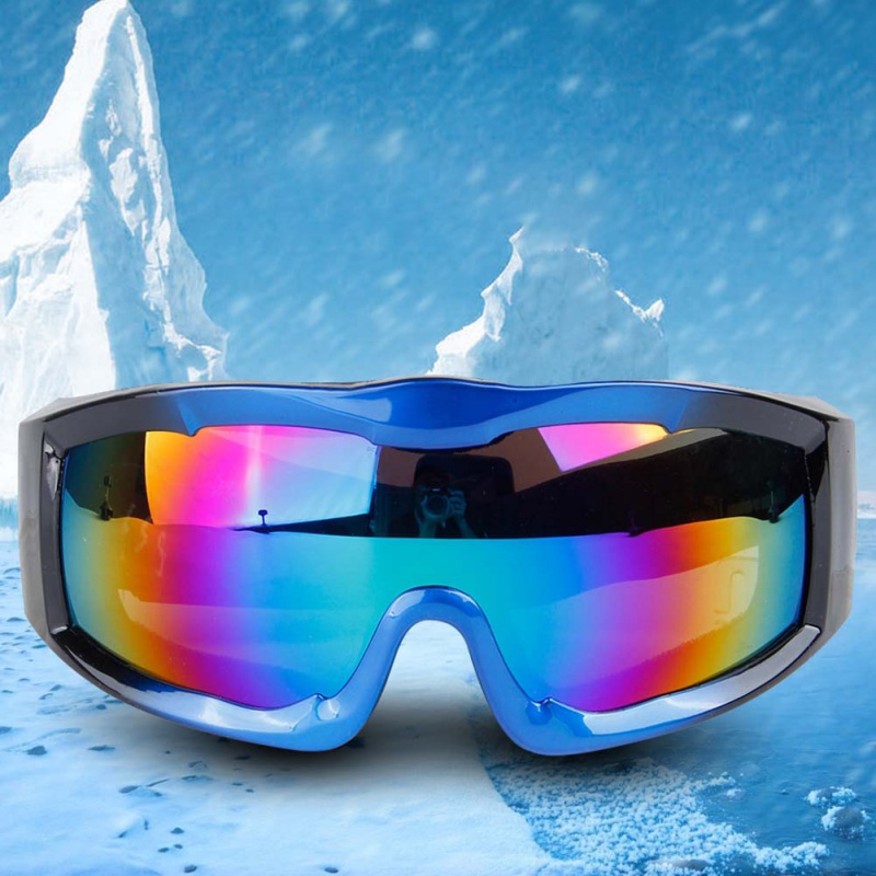 Pro Unisex Ski Snowboard Goggles Single Layer Spherical Surface UV400 Anti-fog Windproof Men Women Winter Sport Skiing Glasses