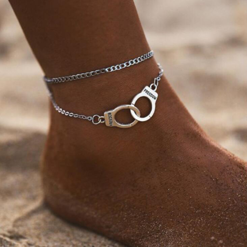 XIYANIKE 2019 BOHO New Fashion Handcuffs Beach Anklets For Women Girl Trendy Foot Jewelry Leg Accessories Bracelet Bohemian