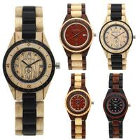 Casual Men/Women Teen Retro Wood Elegant Analog Round Dial Quartz Watches Top Brand Luxury Hand Natural Wood Men Watch