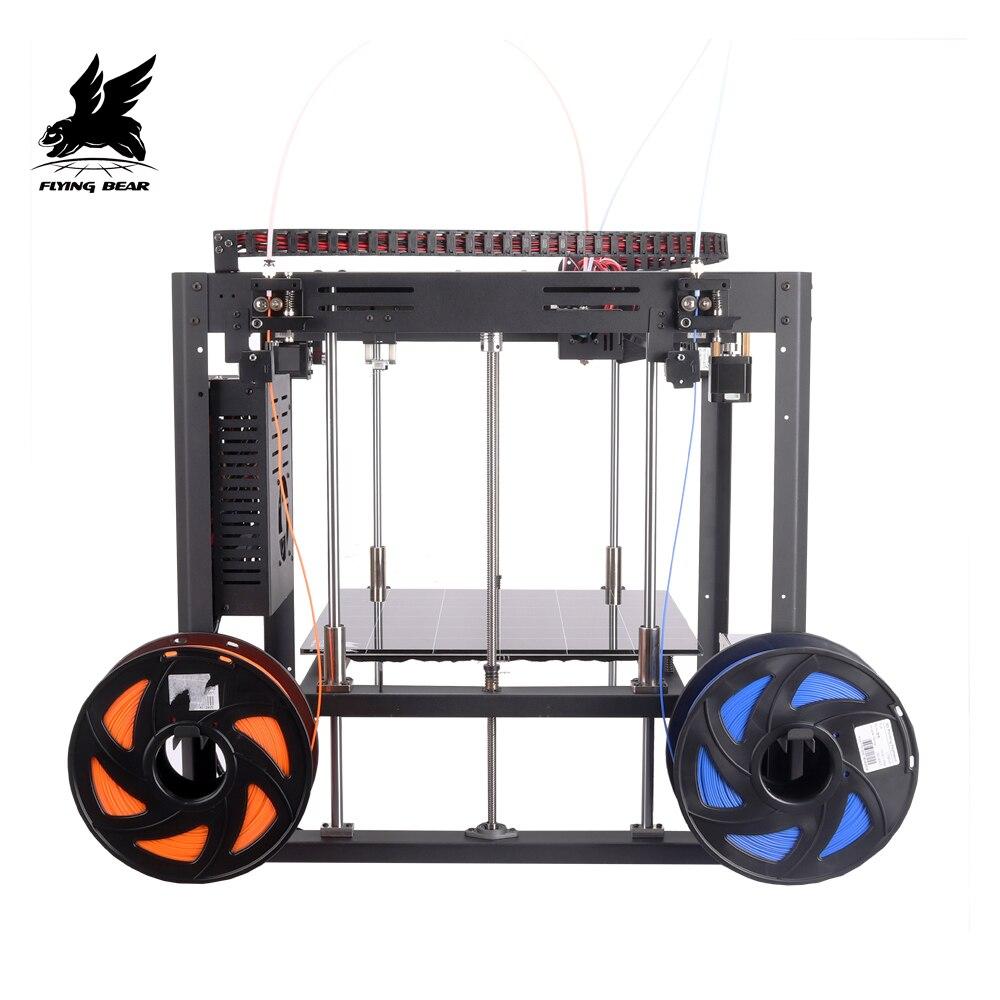 Venta caliente Flyingbear Tornado 2 DIY de metal llena de carril lineal 3d Kit de impresora con gran tamaño de impresión