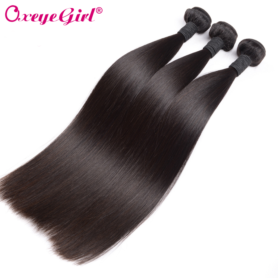 Peruvian Hair Human Hair Extensions Straight Hair Bundles 1/3/4 Bundle Tilbud Remy Hair Weave Bundler Double Weft Oxeye jente