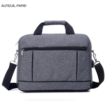 Luggage Bags - Briefcases - AUTEUIL PARIS Men's Business Briefcase Man Travel Shoulder Bag Simple Vintage Male Big Briefcase Office Laptop Bags For Men