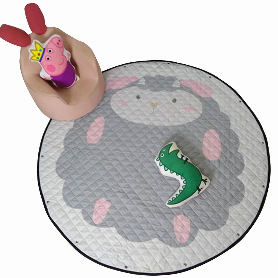 150CM Kids Play Game Mats Round Carpet Rugs Mat Cotton Swan Crawling Blanket Floor Carpet For Kids Room WJ544