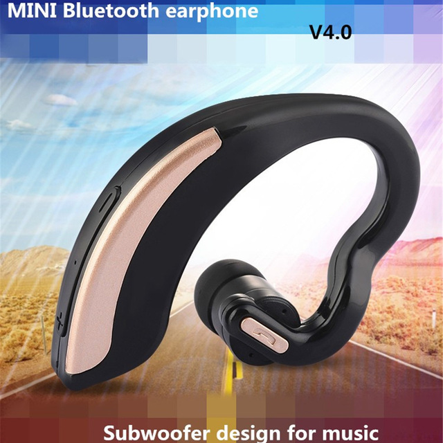 Universal Wirless Bluetooth Stereo Headset Earphone Safe Driving Hands-free with Mic for iPhone 6 6S Plus S7 S6 edge Smartphones