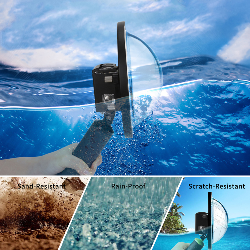 SHOOT 6 inch Waterproof Dome Port Lens for GoPro Hero 7 6 5 Black Action Camera