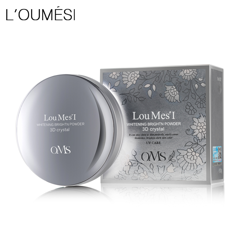 Loumesi Powder Concealer Oil Control Lasting Face Finishing Whitening Makeup Brighten Foundation base make up 18g loumesi air whitening air cushion bb cream loose powder face powder make up primer face foundation base makeup