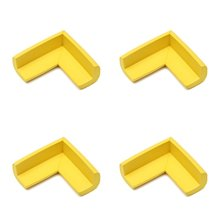 ABWE Best Sale  4pcs Child Baby Safety Desk Table Edge Cover Guard Corner Protector Cushion yellow