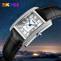 SKMEI Brand Fashion Ladies Quartz Watch Dress Women S Leather Strap Women Watches Fashion Waterproof Wrist