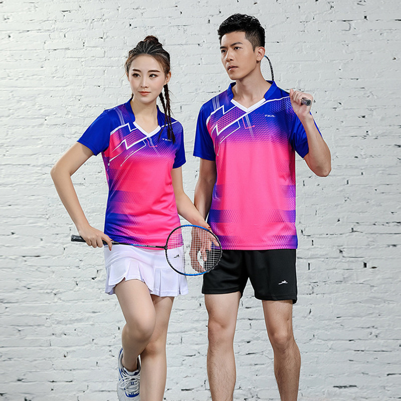 Badminton T-shirt Men,tennis Clothes For Girls,ping Pong Clothes , Table Tennis Tracksuit , Jersey Badminton Sportwear Kits 2623