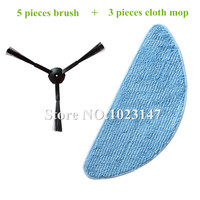 5x Side Brush Kit 3x Cleaning Mop Cloth Replacement For Ilife V7 Chuwi V7 Robotic Vacuum