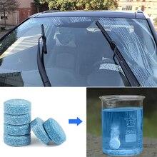 1pcs = 4L แก้วของเหลวหน้าจอผงซักฟอกกระจก Wiper เครื่องซักผ้าเข้มข้นเม็ดฟู่ Solid ทำความสะอาดหน้าต่างรถ Tidy