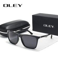 ФОТО oley classic aluminum magnesium tr90 polarized sunglasses men black hd fashion brand glasses women color film anti-uv goggles