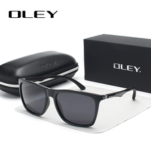 OLEY Classic aluminum magnesium TR90 polarized sunglasses men black fashion brand glasses women color film anti-UV goggles