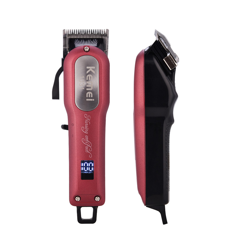 KEMEI Electric Rechargable Hair Cutting Hair Clipper Professional Machine Sharp Blade Hair Trimmer For Men Baby Hair Salon P39