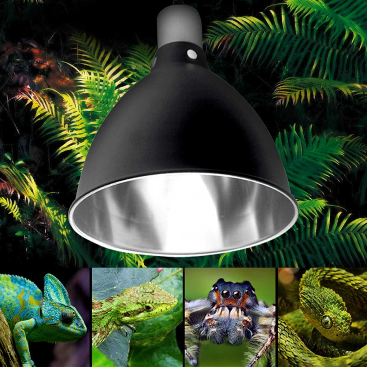 E27 Ceramic Heat UV UVB Lamp Light Holder For Aquarium Amphibians Reptile Tortoise Lampshade with Switch