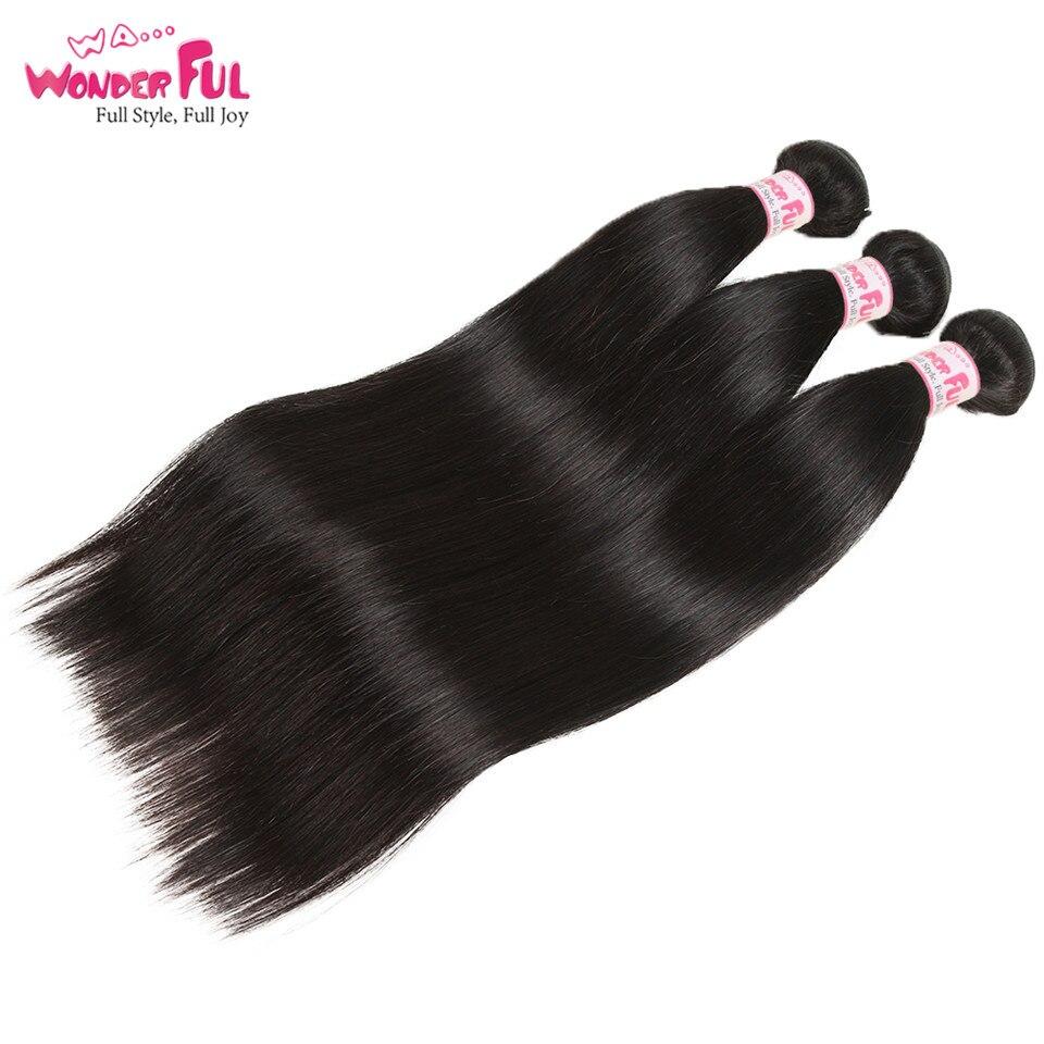 Joedir Hair-brasilianska hårvävsknippen med stängning, rakt hår - Skönhet och hälsa - Foto 3