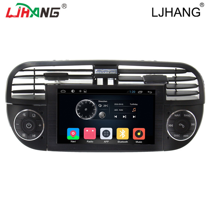 Android 6.0 car dvd radio For Fiat 500 Abarth 2007-2015 rear camera Bluetooth Steering Wheel Control 3G wifi Free map  Bluetooth abarth tales толстовка