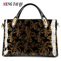 Glossy Leather Women Bag Luxury Brand messenger Shoulder Bags Ladies totes Butterfly Prints Fashion design Bolsa Feminina 3