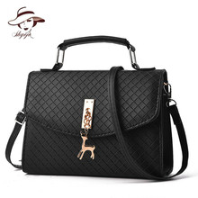 Mini Women Shoulder Bag Messenger Bag Ladies Flap PU Leather Small Hand Bag Famous Brand Crossbody Bag With Deer Appliques Shell