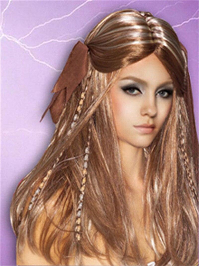 Halloween fête cosplay perruques femmes Pirates des caraïbes perruques Blond longue tresse synthétique cheveux perruques vente chaude 016