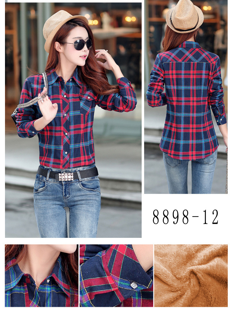 HTB1h0pDRVXXXXb7XFXXq6xXFXXXI - Velvet Thick Warm Women's Plaid Shirt Female Long Sleeve