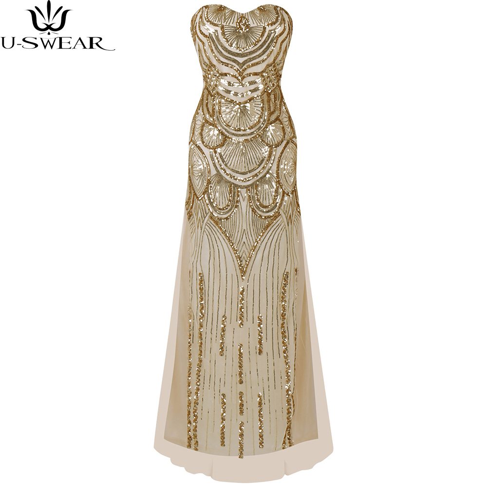 Women's 1920s Sequin Flapper Dress 1920s Vintage Gastby Great Gatsby Charleston Tassel Party Gold Mesh Sequins Dress Vestidos